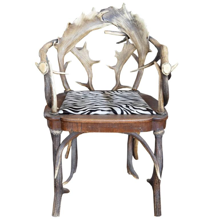 Bon Antler Chair From A Bavarian Lodge For Sale