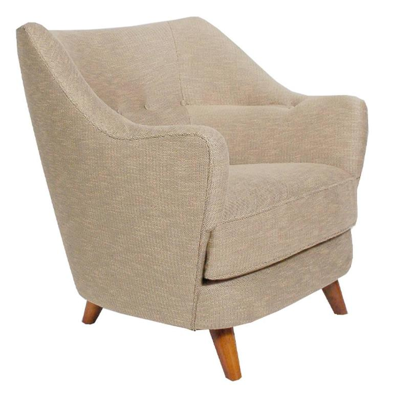 Italian Lounge Chair in the Manner of Gio Ponti