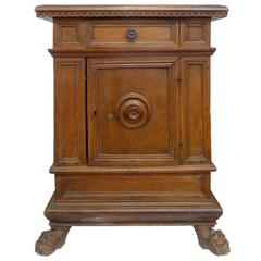 17th Century Carved Wood Italian Commode
