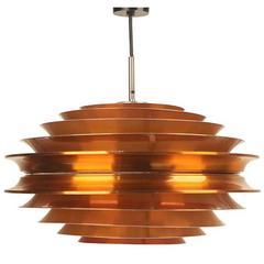 Danish Modern Carl Thore Chandelier Modernist Ceiling Pendant Lamp, 1960s