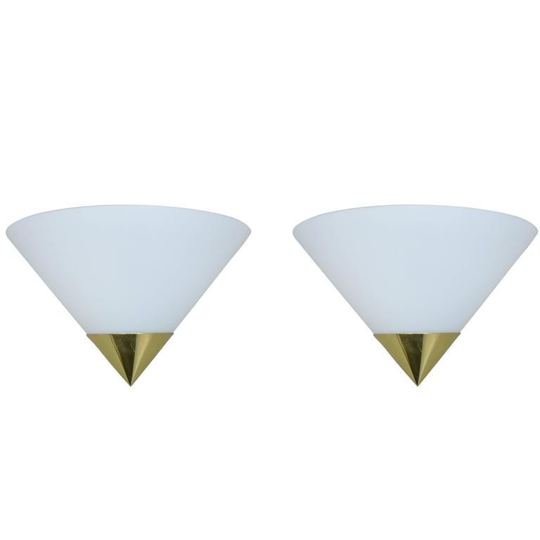 Limburg Brass and Glass Sconces
