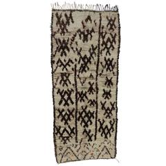 Berber Moroccan Rug with Tribal Design and Modern Style