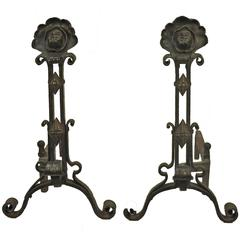 American Gothic Revival Andirons