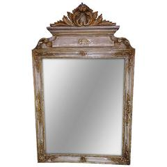 Italian Carved and Painted Mirror, Early 19th Century