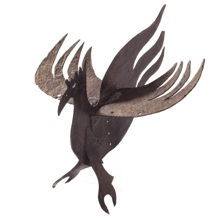 Primitive Antique Iron Dragon For Sale