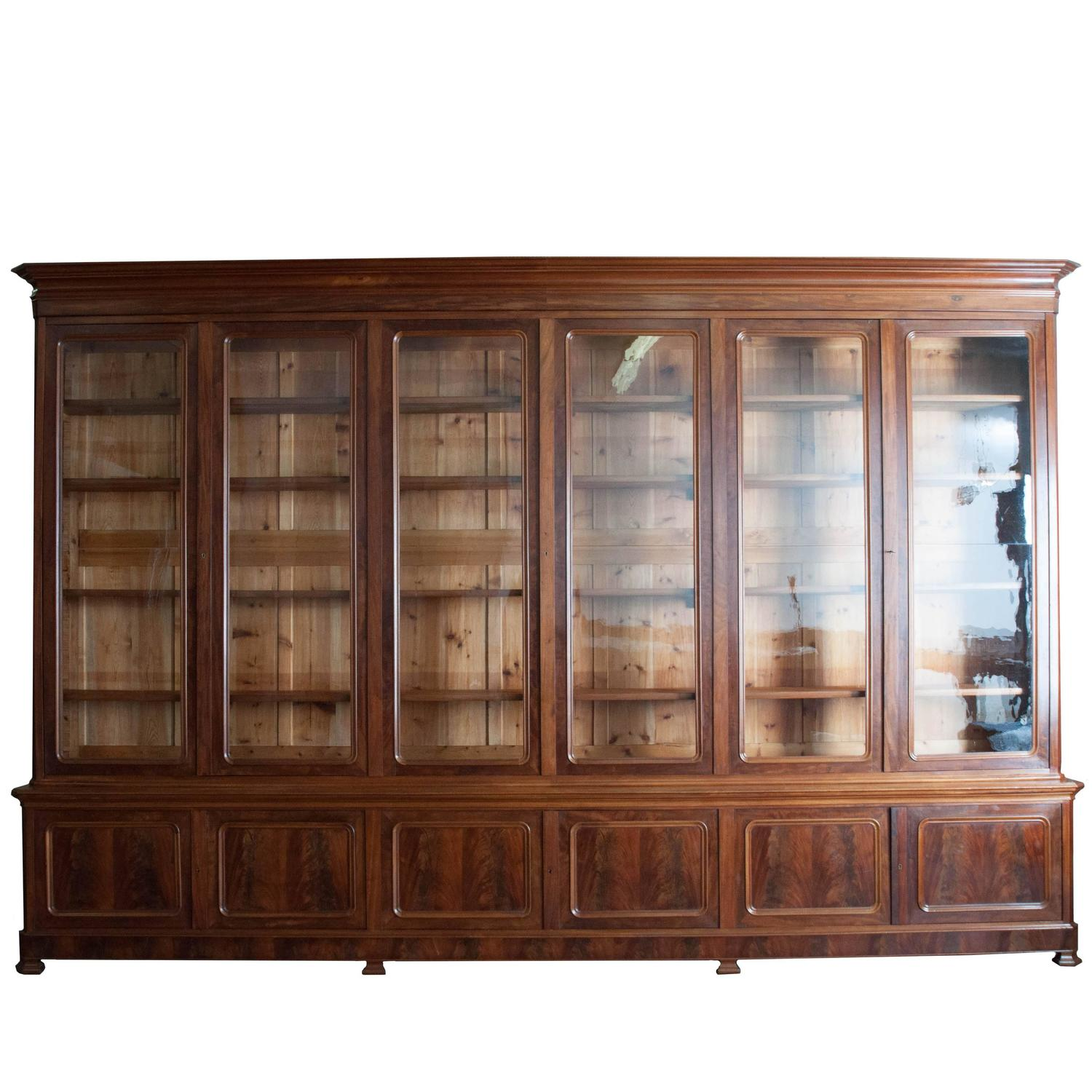 Grand french 19th century louis philippe mahogany bibliotheque at 1stdibs - Bibliotheque 9 cases ...