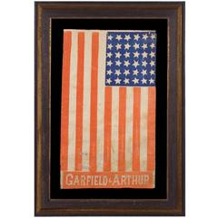 Rare 36 Star Parade Flag Made for the 1880 Campaign of Garfield and Arthur