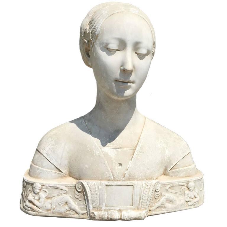 Circa 1850 Plaster Bust