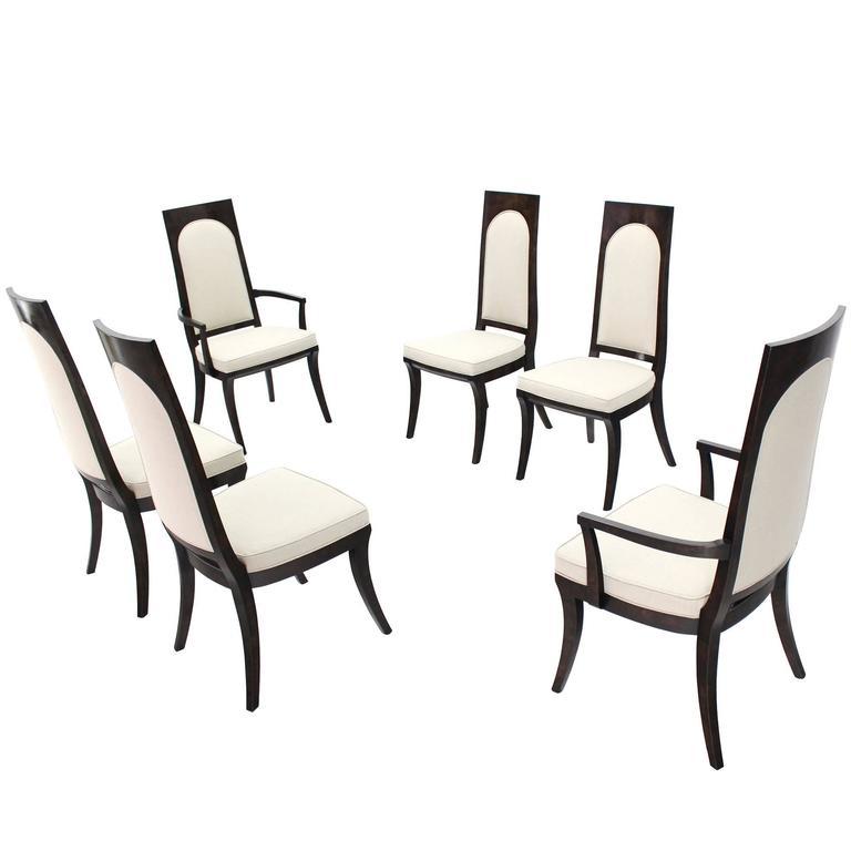 Set of Six Mid-Century Modern Mastercraft Dining Chairs New Upholstery