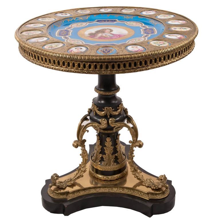 19th Century Sèvres Portrait Salon Table