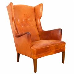 Rare Wing Chair by Frits Henningsen