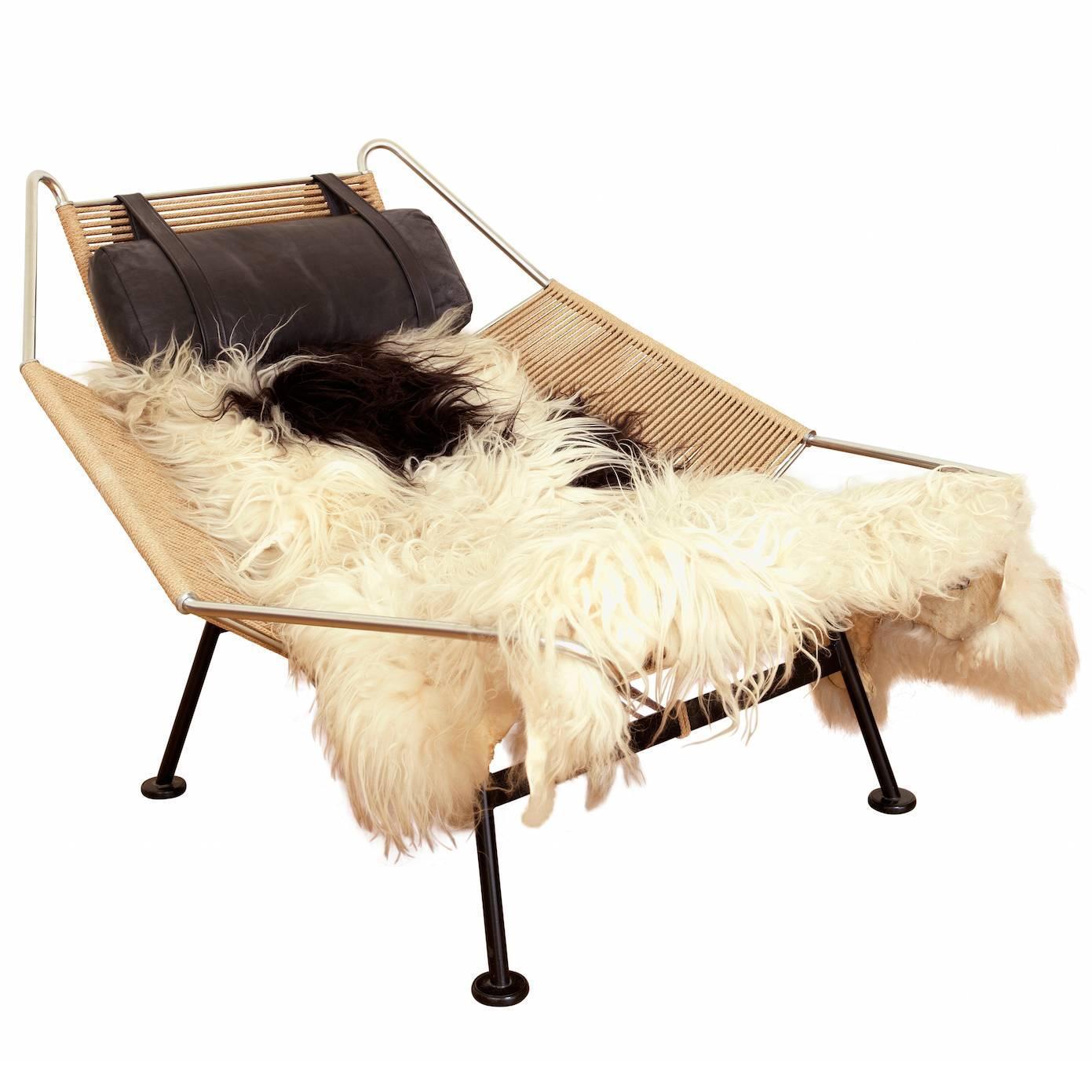 "Flag Halyard"" Lounge Chair by Hans J Wegner at 1stdibs"