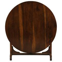 French Wine Tasting Table of Solid Walnut Wood, Beautiful Wood Grain and Patina