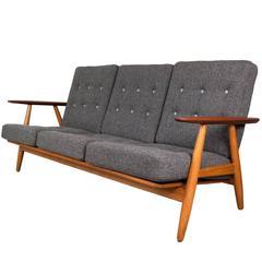 Hans Wegner GE-240 'Cigar' Sofa in Oak and Teak