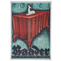 Emil Schumacher Original Poster for Mobel Baader