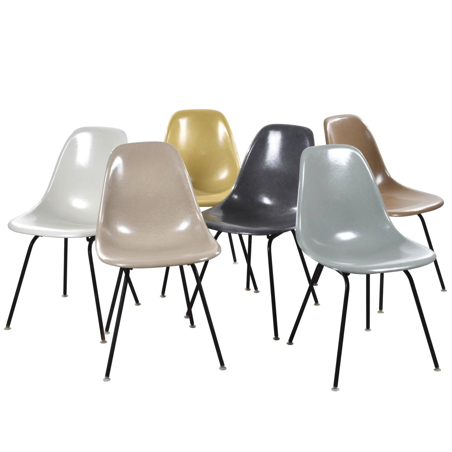 Set of Six Eames DSX Dining Chairs for Herman Miller For