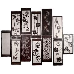 Collection of Vintage Kimono Stencils