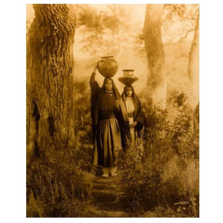 Edward S Curtis Quot Taos Water Girls Quot Taken 1905 Printed