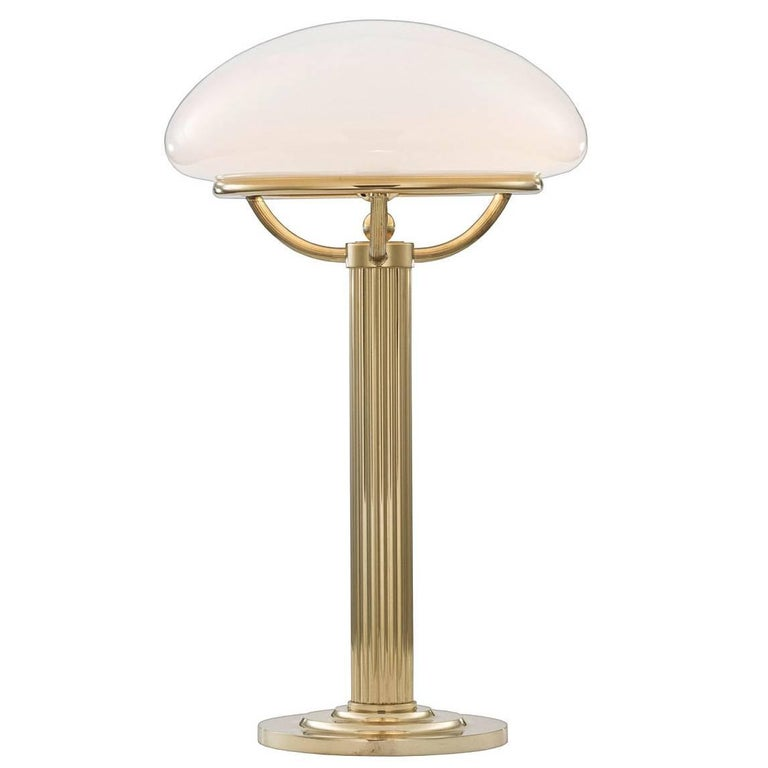 Adolf Loos Vienna Secessionist, Jugendstil Brass Table Lamp - Re edition For Sale