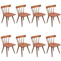 Set of Eight Paul McCobb Spindle Back Chairs for Winchendon, USA, 1950s