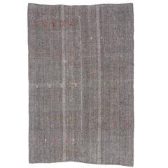 Vintage Turkish Kilim with Minimalist Style, Flatweave Kilim Rug