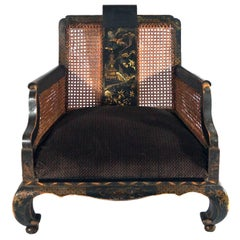 19th Century Hand-Painted Chinese Armchair