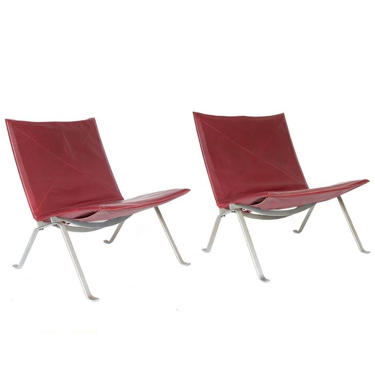 1956, Poul Kjaerholm for E. Kold Christensen, PK22 Lounge Chairs