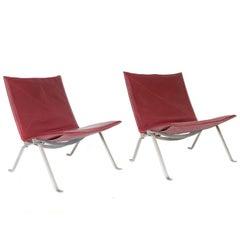 1956, Poul Kjaerholm for E. Kold Christensen, PK22 Lounge Chairs