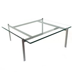 1956, Poul Kjærholm for E. Kold Christensen, PK61 Coffee Table, with small chip
