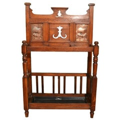19th Century Arts & Crafts Oak Umbrella Stand