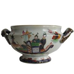 William 1Vth John Ridgway Bowl Ironstone Hand-Painted Chinoiserie, circa 1835
