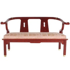James Mont Style Asian Modern Chinoiserie Settee by Century