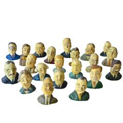 21 Plaster Busts of the Presidents