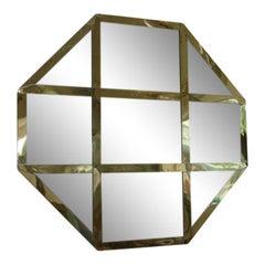 Octagonal Cross Banded Mirror Italy