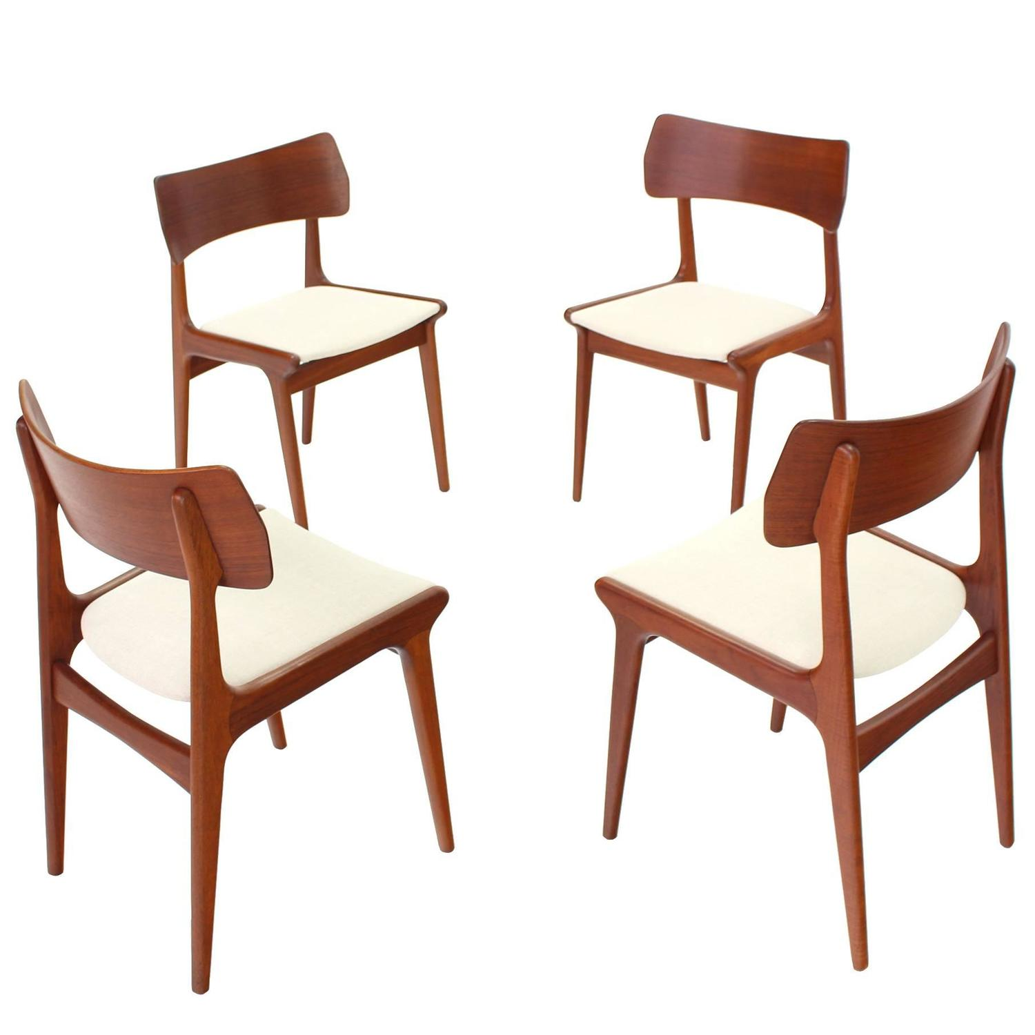of four danish mid century modern dining chairs for sale at 1stdibs