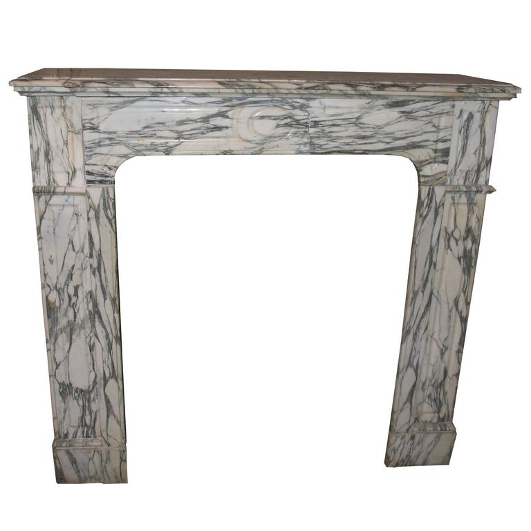 Antique Carrara Marble Fireplace Mantel For Sale At 1stdibs