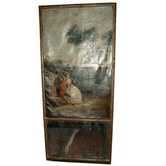 Antique Mirror with Decorated Decoration