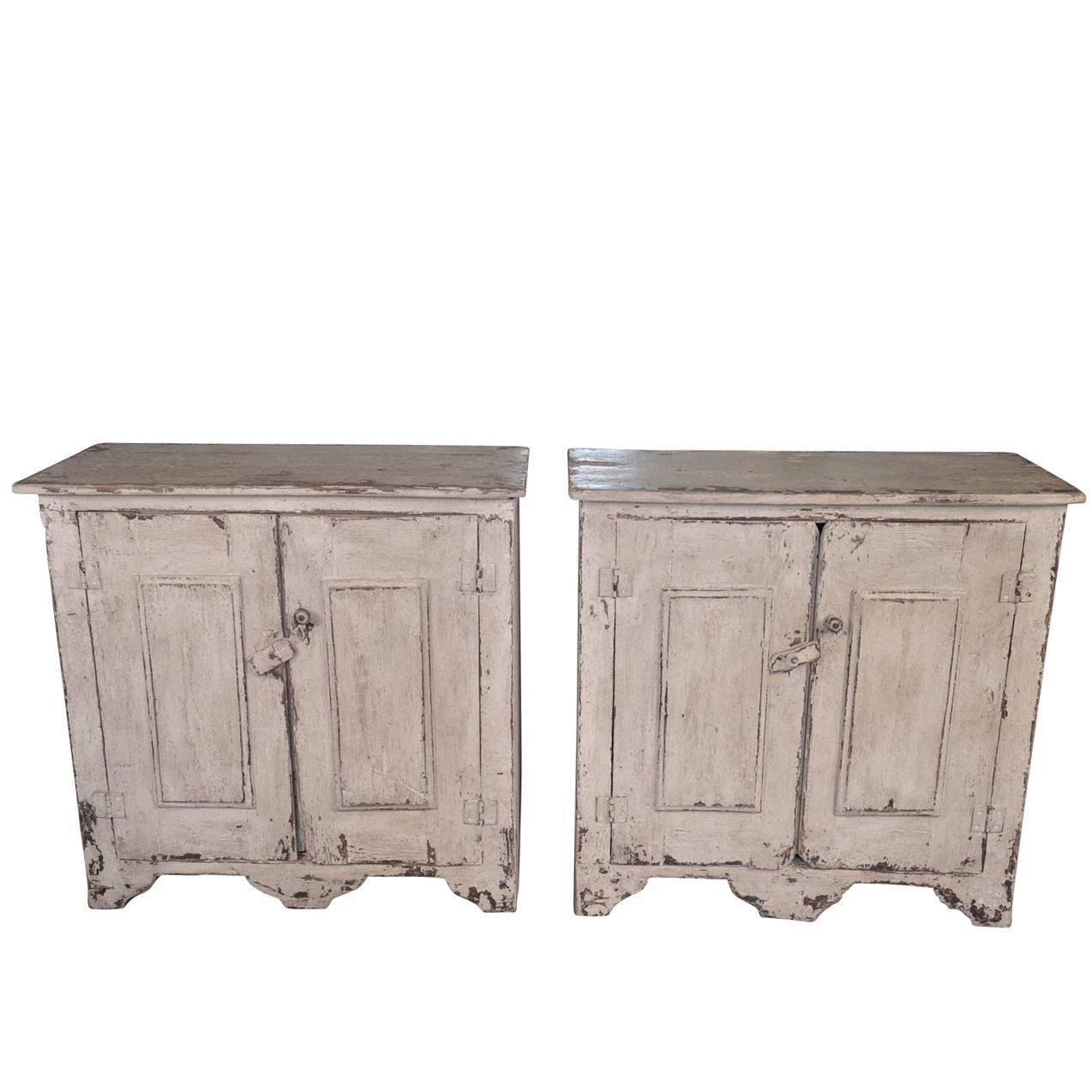 Pair Of Spanish Buffets In Painted Wood At 1stdibs. Full resolution‎  photograph, nominally Width 1274 Height 1274 pixels, photograph with #776054.