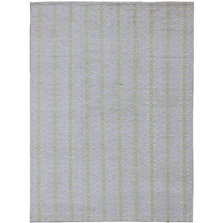 Large Modern Scandinavian or Swedish Flat Weave Rug with Butterfly Design  For Sale