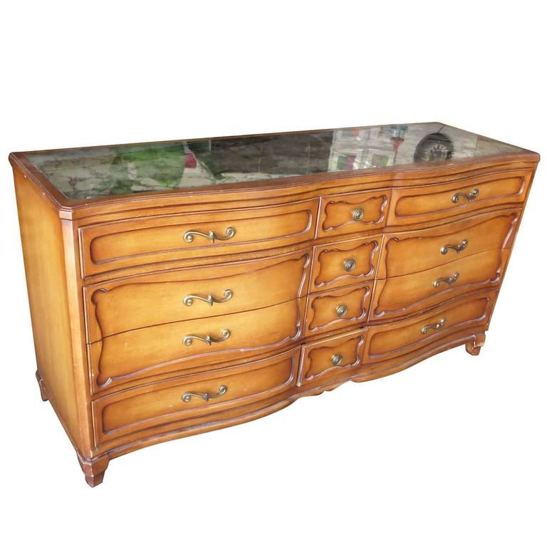 Antique Style French Provincial Dresser Console By Rway For
