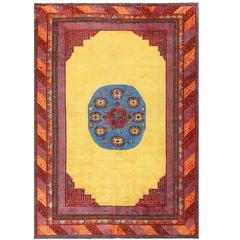 Funky Antique Khotan Carpet
