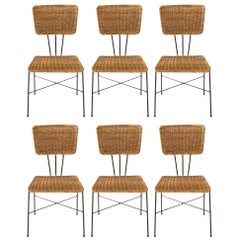 Six Wicker Chairs, 1950s