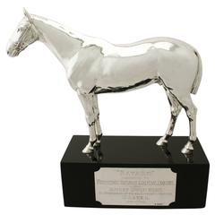 Sterling Silver Presentation Horse by Edward Barnard & Sons Ltd