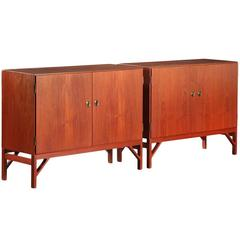 Børge Mogensen Pair of Teak Cabinets/Sideboards by C.M. Madsen