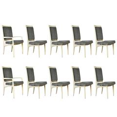 Vladimir Kagan Dining Chairs, Set of Ten