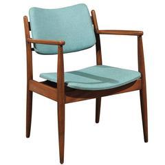 Mid-Century Walnut Armchair