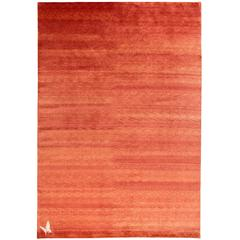 Natural Ombre Silk Butterfly Small Area Rug
