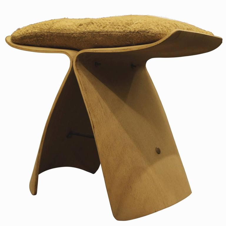 Sori Yanagi 1956 Quot Butterfly Quot Stool With Original Cushion