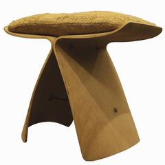 "Sori Yanagi, 1956 ""Butterfly"" Stool with Original Cushion"