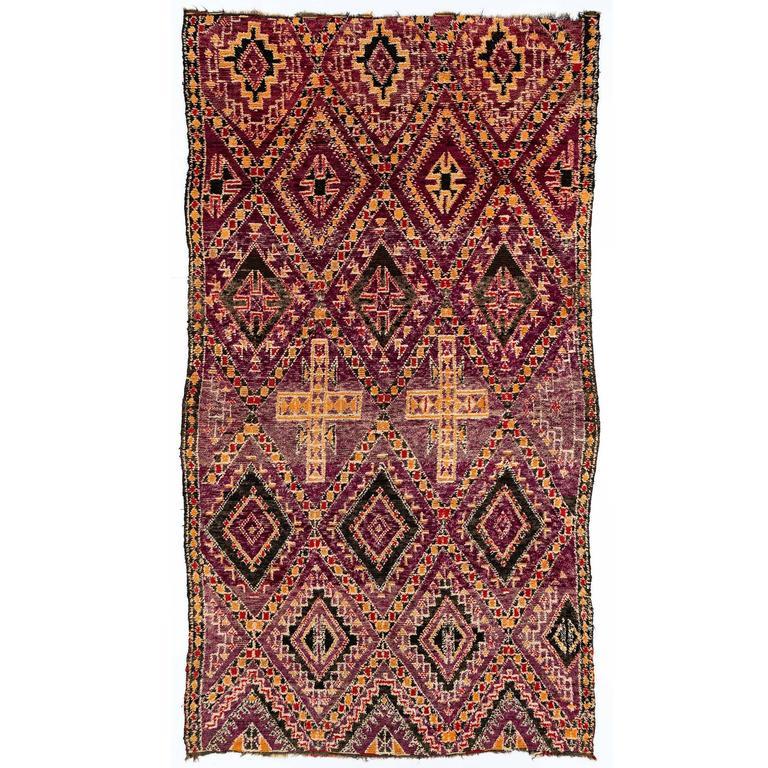 Vintage Beni Mguild Moroccan Rug 6X11